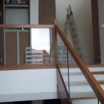 Деревянная лестница в посёлке Охтинское Раздолье  №1