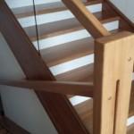 Деревянная лестница в посёлке Охтинское Раздолье  №3